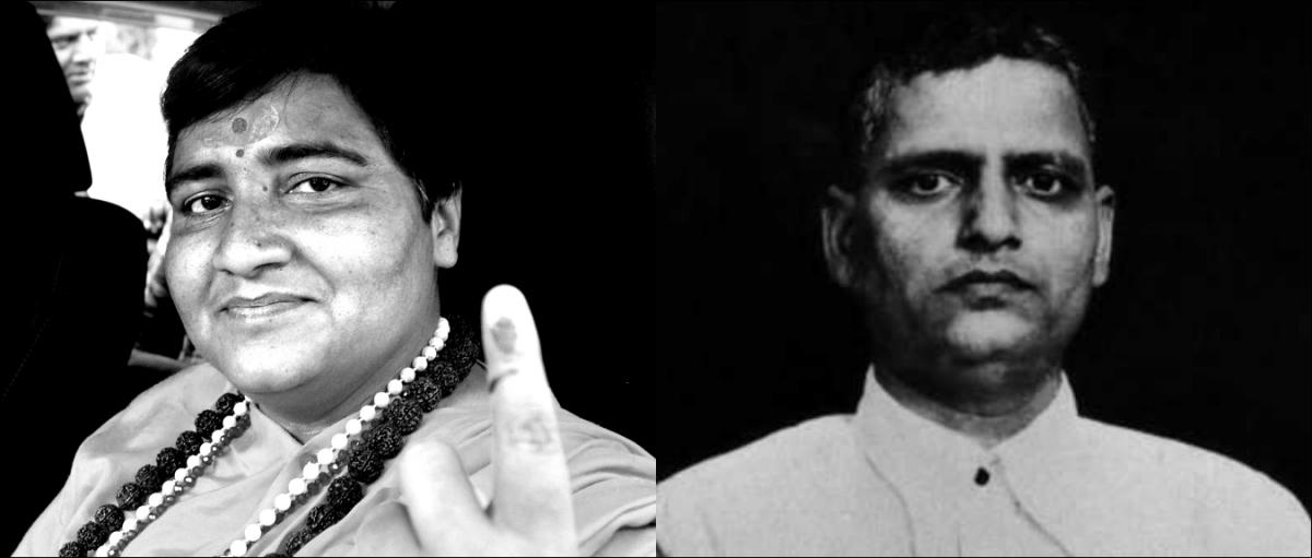 پرگیہ ٹھاکر اور ناتھو رام گوڈے، فوٹو: دی وائر