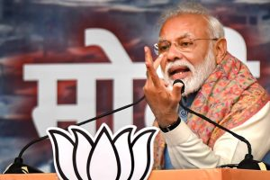 New Delhi: Prime Minister Narendra Modi addresses during a rally at Ramlila Maidan, in New Delhi, Sunday, Dec. 22, 2019. (PTI Photo/Kamal Kishore)(PTI12_22_2019_000103B)