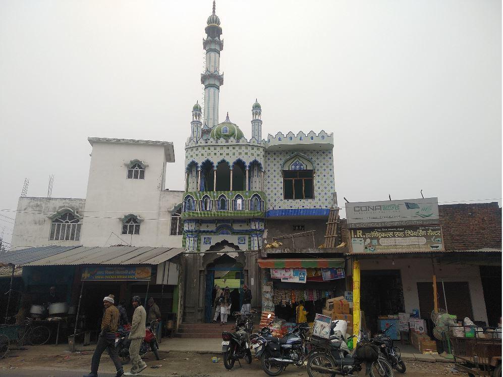 نہٹور قصبے میں واقع مسجد، جہاں پر 20 دسمبر کو لوگ شہریت قانون کےخلاف مظاہرہ کے لئے جمع ہوئے تھے۔ (فوٹو : دی وائر)
