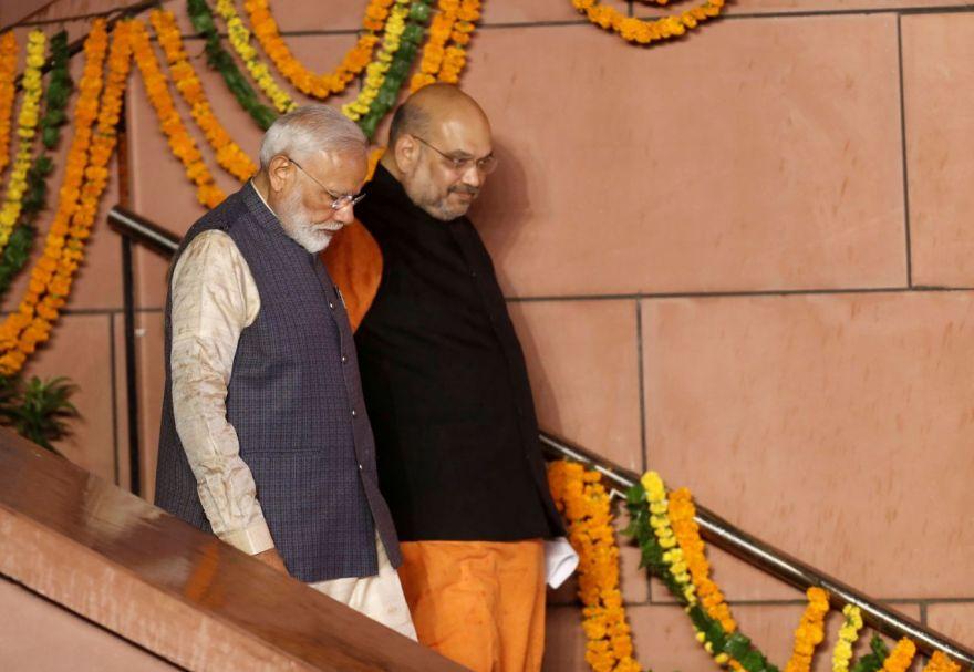 وزیر اعظم نریندر مودی اور وزیر داخلہ امت شاہ(فوٹو : رائٹرس)