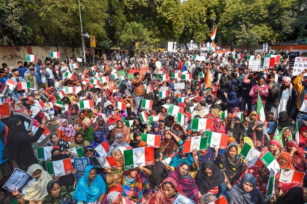 سی اے اے-این آر سی کے خلاف نئی دہلی میں ہوا ایک مظاہرہ(فوٹو : پی ٹی آئی)