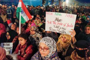 دہلی کے شاہین باغ میں سی اے اے مخالف مظاہرہ میں خواتین(فوٹو : پی ٹی آئی)