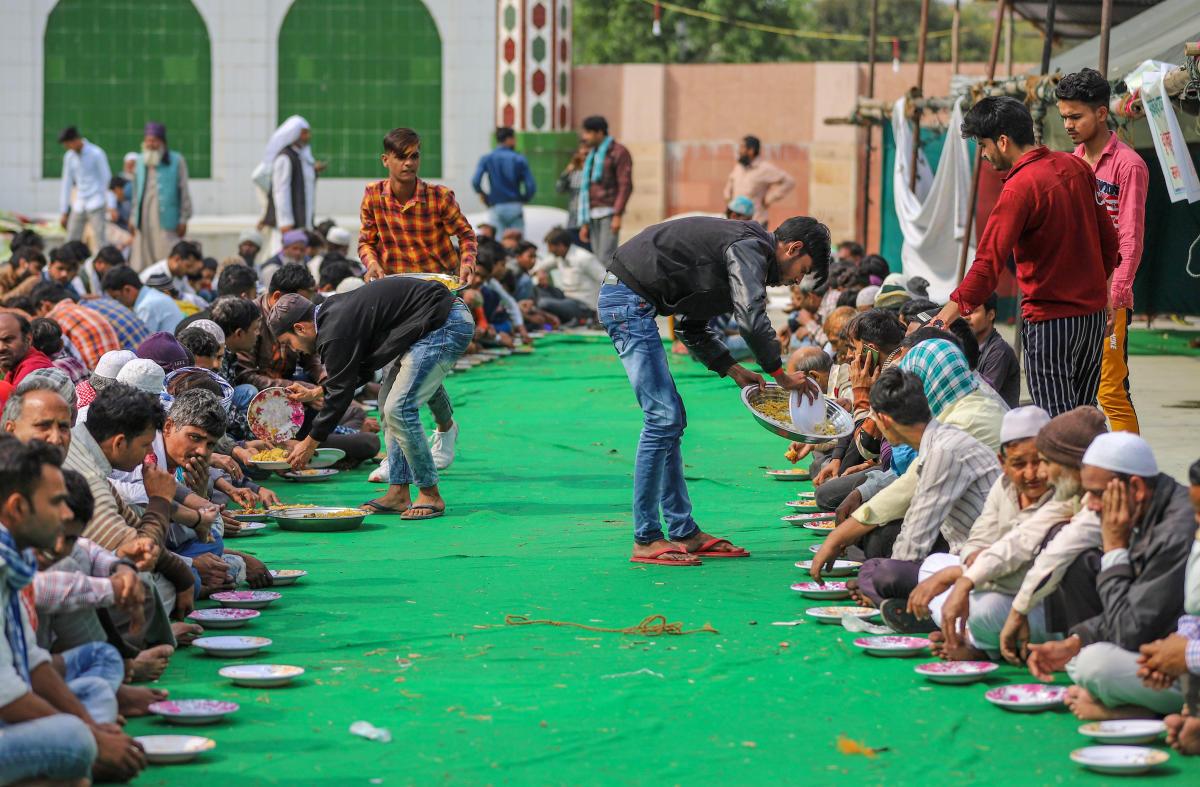 مصطفیٰ آباد میں فساد متاثرین کے لئے بنا راحت کیمپ۔(فوٹو : پی ٹی آئی)