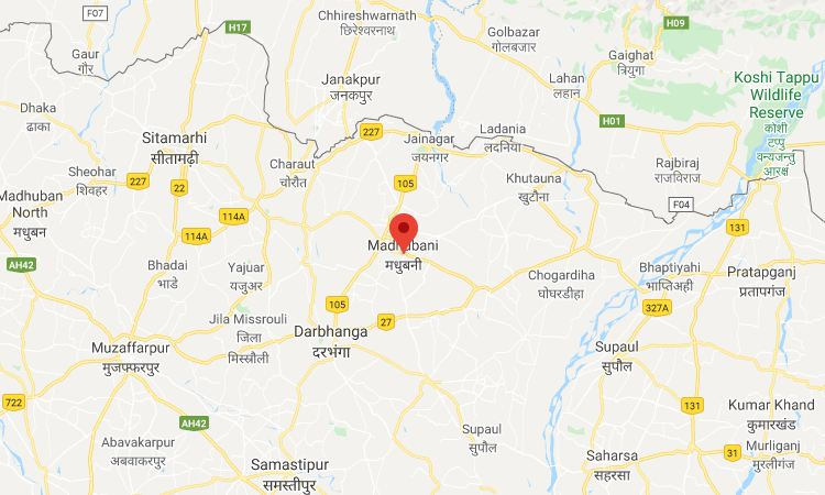 Madhubani-Bihar-map
