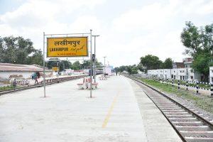 اتر پردیش کا لکھیم پور ریلوے اسٹیشن۔ (فوٹو: indiarailinfo)