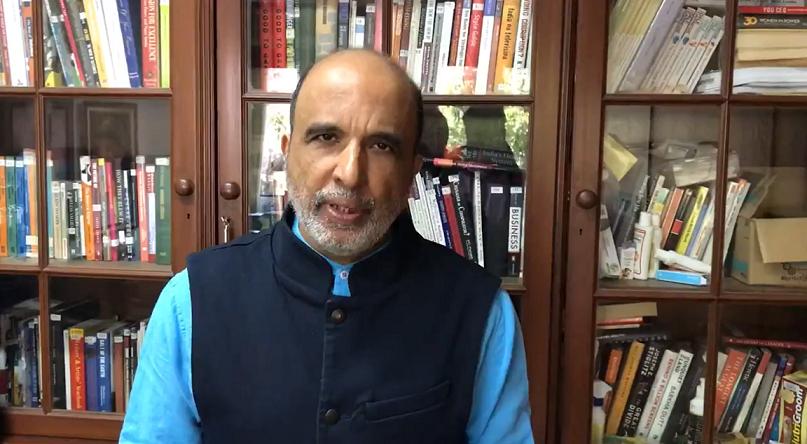 سنجے جھا۔ (فوٹو: ویڈیو گریب/ٹوئٹر)