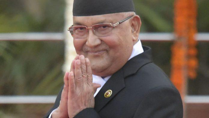 نیپال کے وزیر اعظم کے پی شرما، فوٹو: پی آئی بی