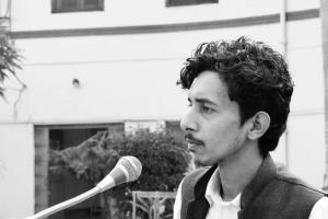 علی گڑھ مسلم یونیورسٹی کے اسٹوڈنٹ لیڈر شرجیل عثمانی۔ (فوٹو: اسپیشل ارینجمنٹ)