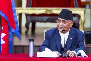 نیپال کے وزیر اعظم کےپی شرما اولی۔ (فوٹو: نیپال نیوز ایجنسی)