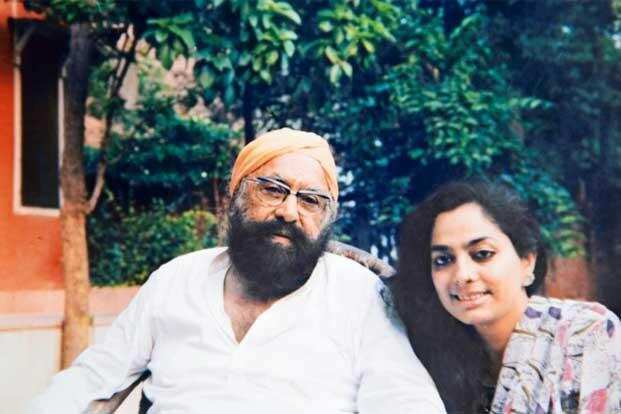 1990 کی دہائی میں سعدیہ دہلوی اور خشونت سنگھ، فوٹو بہ شکریہ: سعدیہ دہلوی