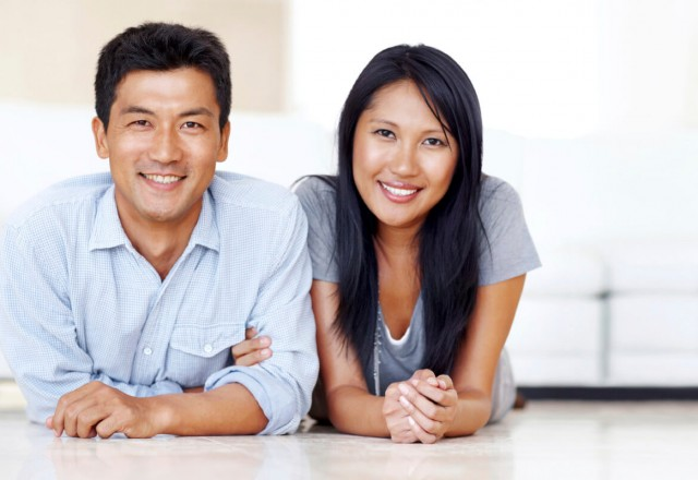 Fertility Services-Happy Asian couple