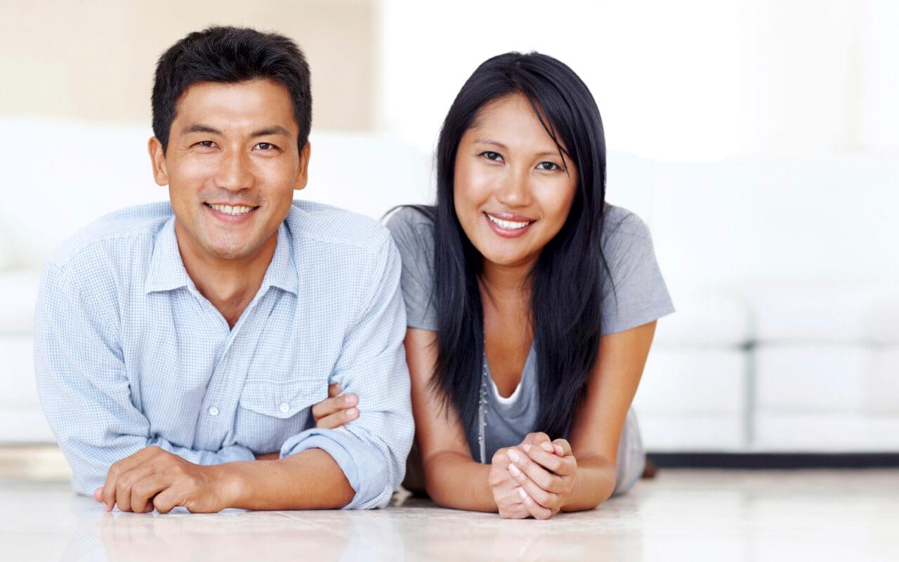Fertility Services-Happy Asian couple