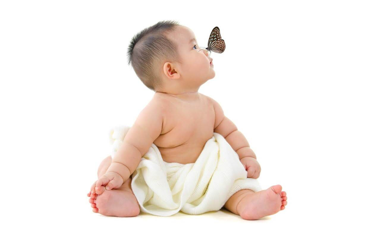 Fertility Treatments-Baby and butterfly