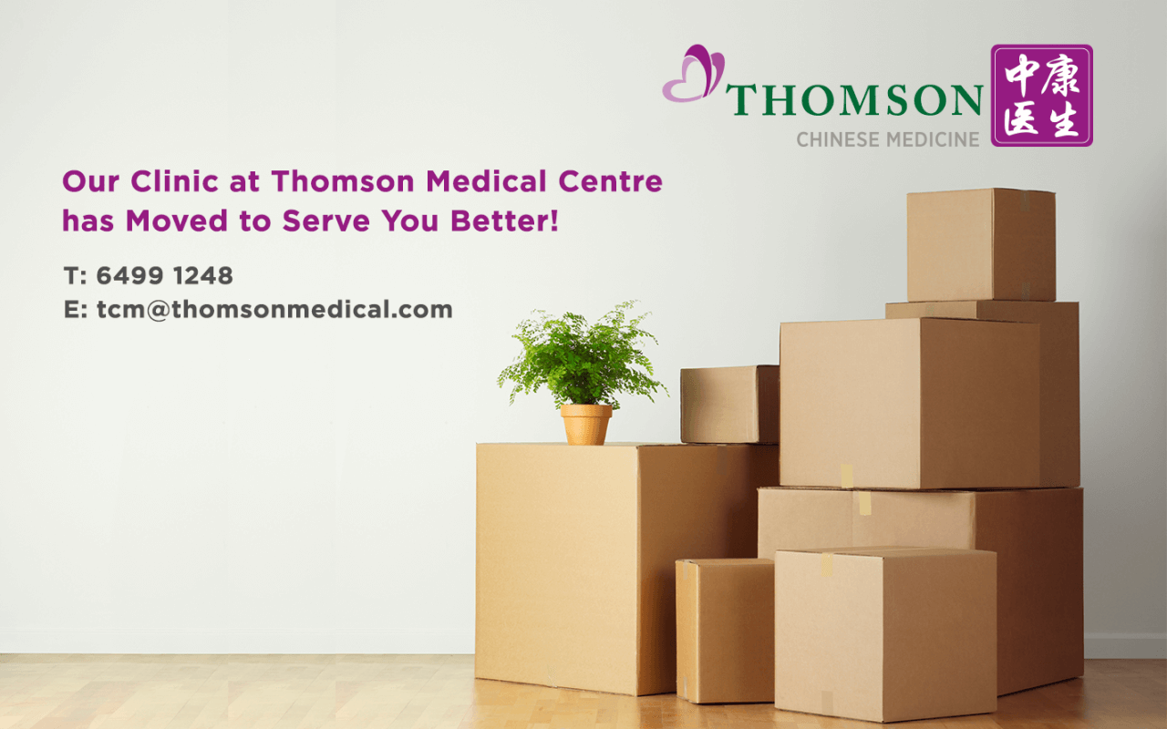 Thomson Chinese Medicine relocation
