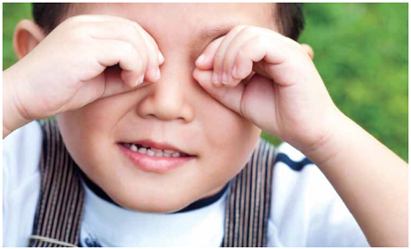 TCM Children's Health-young child with eye goggles
