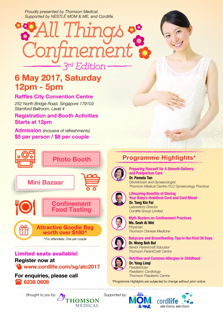 Thomson Chinese Medicine-All things confinement-event poster