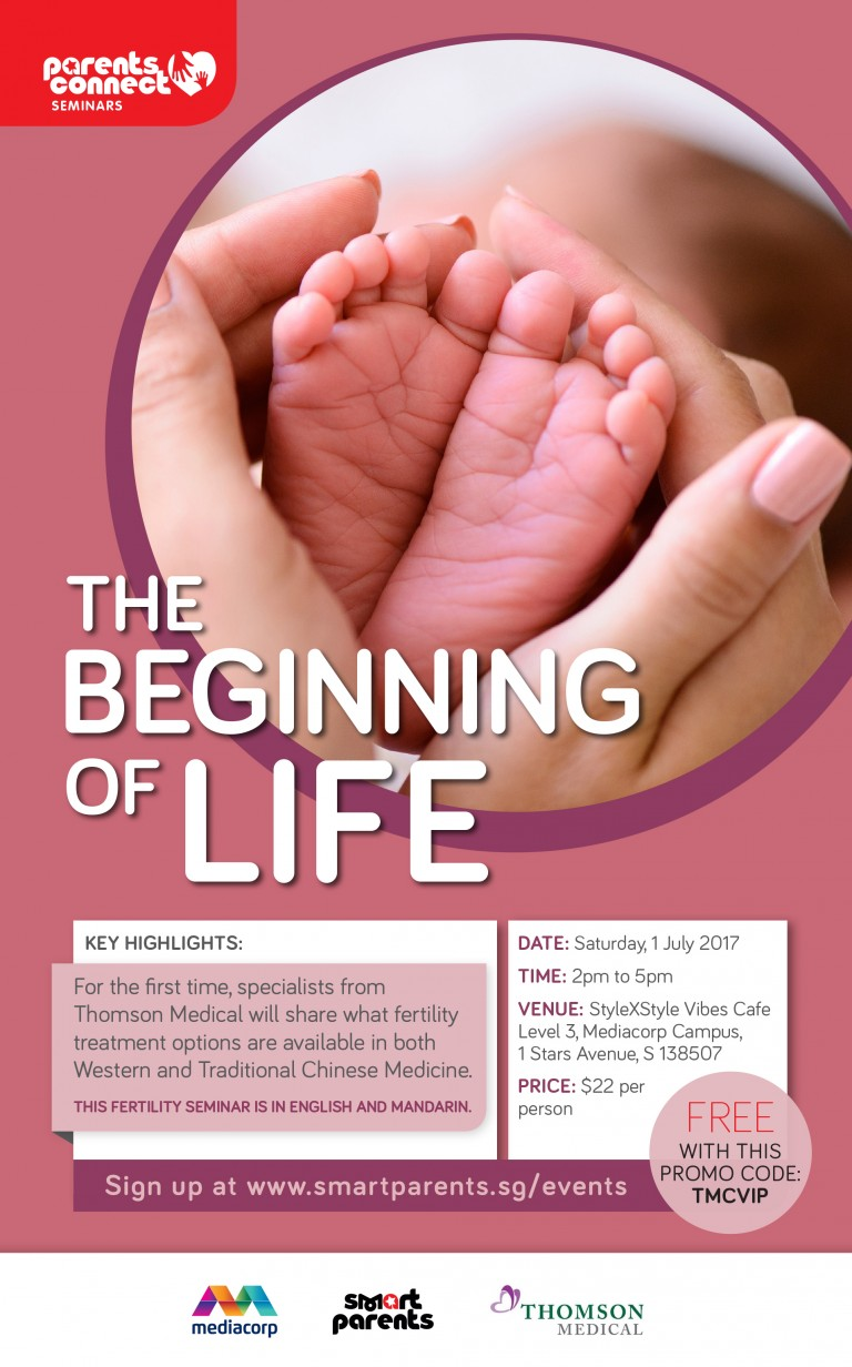 Thomson Medical-The beginning of life-seminar poster