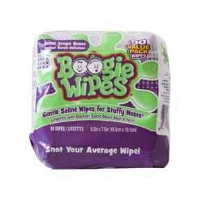 Boogie Wipes Saline Nose Wipes Value Pack, Great Grape 90ct