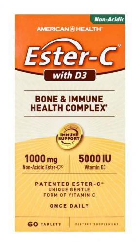 Ester C with D3 60 tablets