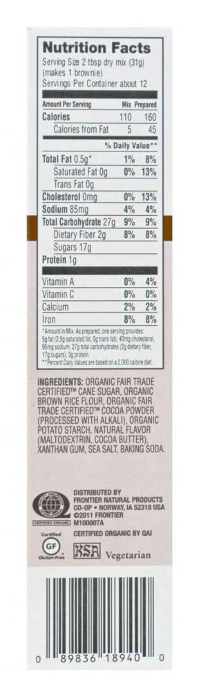 Organic Cocoa Brownie Mix Flour 370g