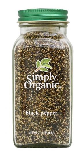 Simply Organic Organic Black Pepper Bottle 65g