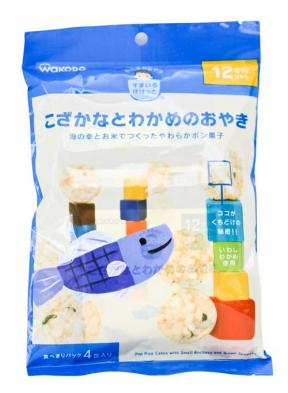 Wakodo Pop Rice Cakes with Small Anchovy & Brown Seaweed