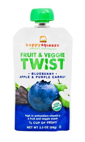 Happy Baby Twist Blueberry, Apple & Purple Carrot 99g