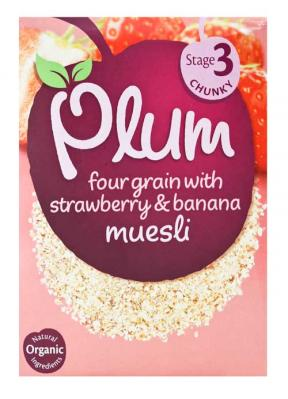 Plum UK Four Grain With Strawberry & Banana 250g