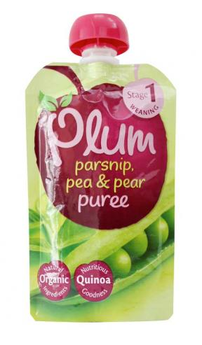 Plum UK Parsnip, Pea & Pear Puree 100g