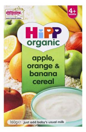 Hipp Apple, Orange & Banana Ceral (4mths+) 160g