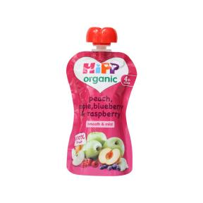 Hipp Peach, Apple, Blueberry & Raspberry	100g
