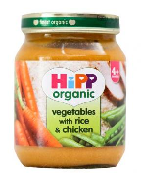 Hipp Vegetables with Rice & Chicken 125g