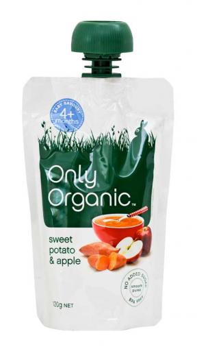 Only Organic Sweet Potato & Apple (4mths+) 120g