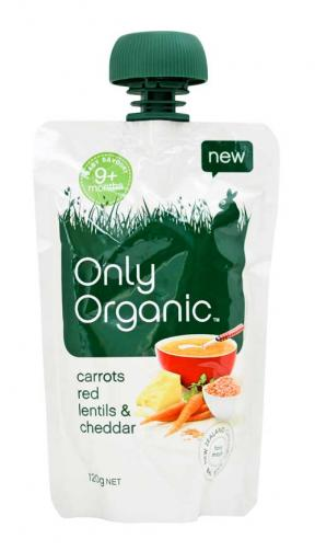 Only Organic Carrots Red Lentils & Cheddar (9mths+)	120g