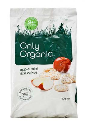 Only Organic Apple Mini Rice Cakes (9mths+) 40g