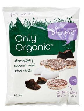 Only Organic Chocolate & Coconut Mini Rice Cakes (12mths+) 60g