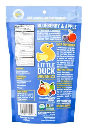 Little Duck Organic Blueberry & Apple	28g