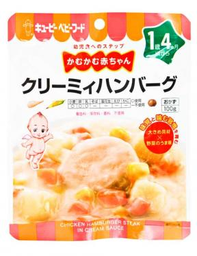 Kewpie Chicken Hamburger Steak In Cream Sauce (16mth+)	100g