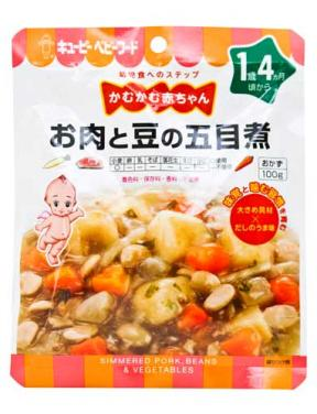 Kewpie Simmered Pork Beans & Vegetables (16mth+) 100g