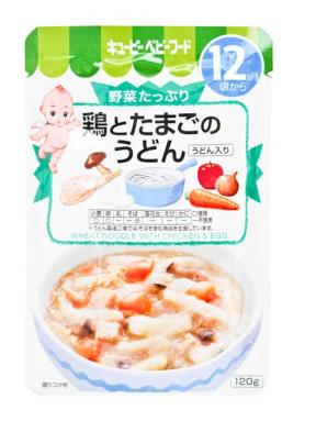 Kewpie Wheat Noodle With Chicken & Egg (12mth+) 120g