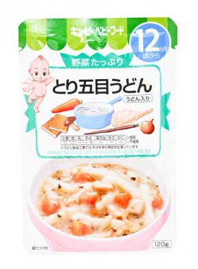 Kewpie Wheat Noodles With Chicken & Vegetables (12mth+) 120g