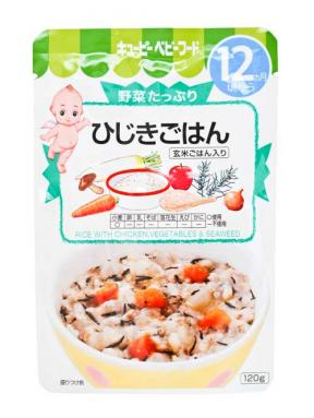 Kewpie Rice With Chicken Vegetables & Seaweed (12mth+)	120g