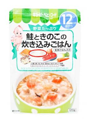 Kewpie Rice With Salmon, Mushroom & Vegetables (12mth+) 120g