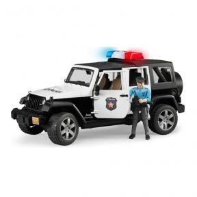 Bruder Toys 2526 - Jeep Wrangler Unlimited Rubicon Police Vehicle Dark Skin