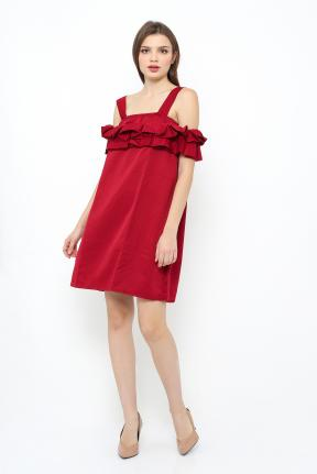Saphire Dress in maroon