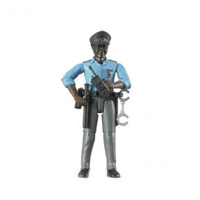 Bruder - 60051 Policeman, Dark Skin, Accessories