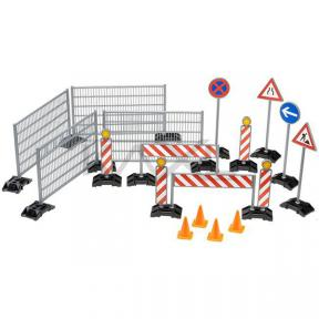 Bruder Accessories - 62007 Construction: Ralings, Site Signs And Pylons