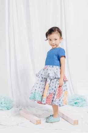 EKids.201807 Blue Marcheline Kids Dress