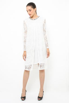 White Outter lace with inner