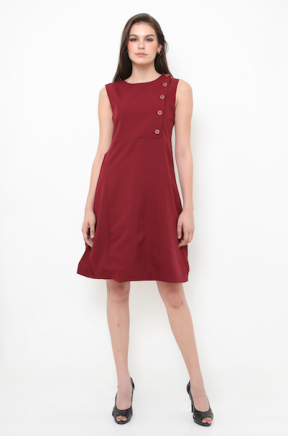 Jollie Dress in maroon